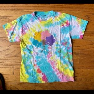 Handpainted OOAK tie dye t shirt top pastel XS S